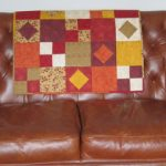 One of the Patchwork Quilts created by Lindsay at our 'Make your own Patchwork Quilt' workshop