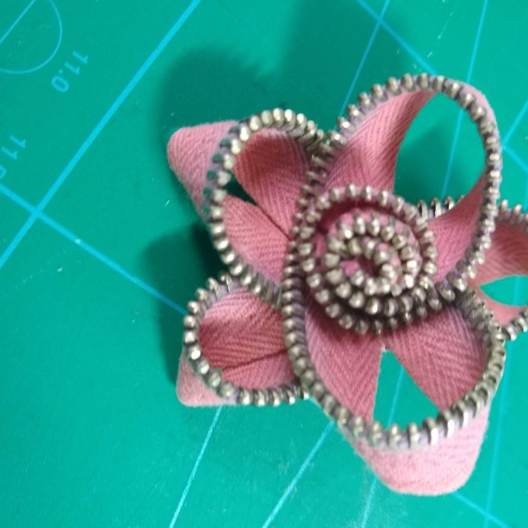 Zipper Brooch